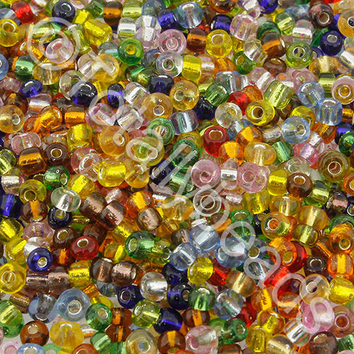 Seed Beads Silver Lined  Mixed - Size 8