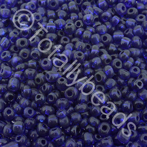 Seed Beads Transparent  Dark Blue - Size 11