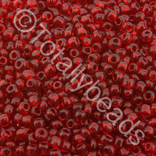 Seed Beads Transparent  Dark Red - Size 11