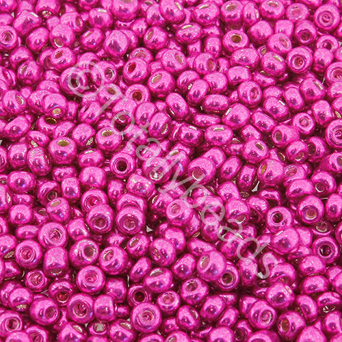Seed Beads Metallic  Bright Pink - Size 8