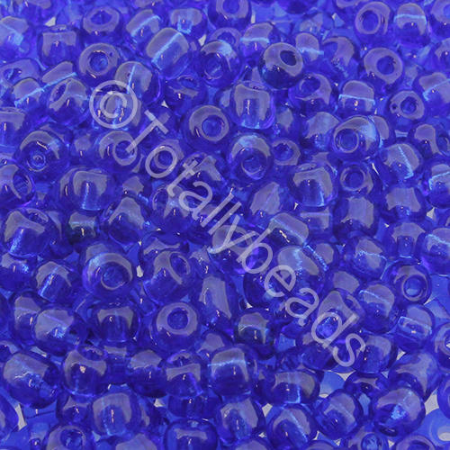 Seed Beads Transparent  Dark Blue - Size 6
