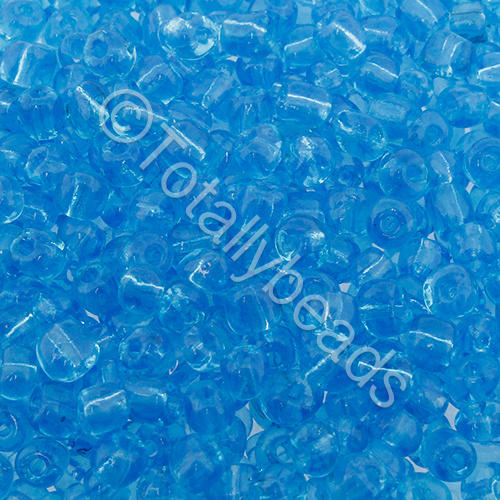 Seed Beads Transparent  Turquoise - Size 6