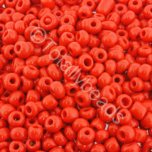 Seed Beads Opaque  Red - Size 6