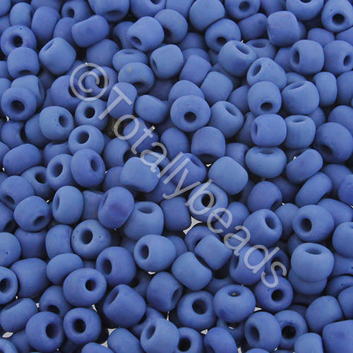 Seed Beads Opaque Frosted  Dark Blue - Size 6