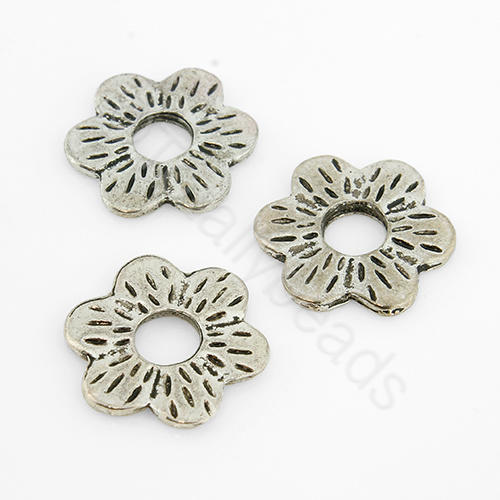 Tibetan Silver Bead - Flower 16mm