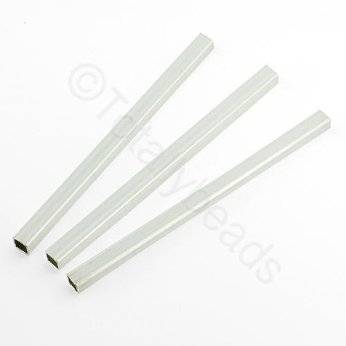 Square Spacer Tube - Silver Plated