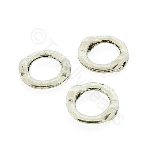 Tibetan Silver Bead Frame - Ring 13mm