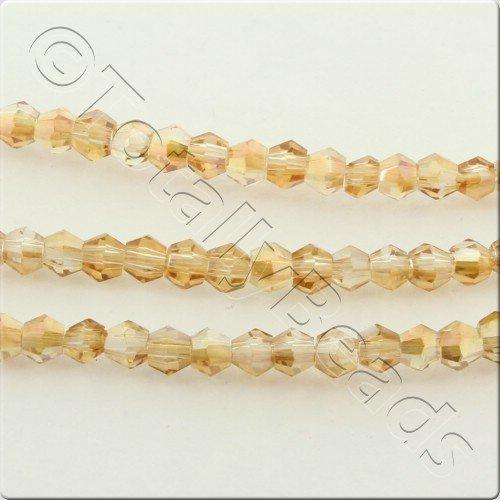 Crystal Bicone 2.5mm - Half Orange