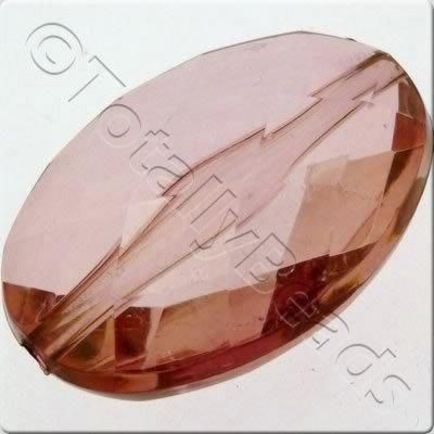 Acrylic Facet Flat Oval 38mm - Amethyst