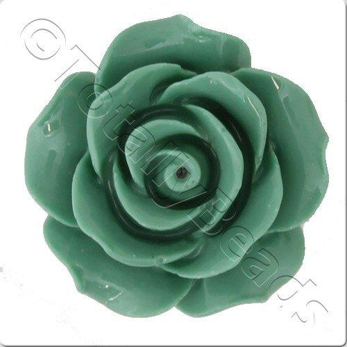 Acrylic Rose 25mm 2 Row - Sea Foam Green