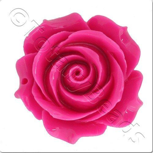 Acrylic Rose 35mm Pendant - Pink