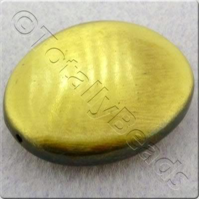 Acrylic Bronze Bead - Flat Nugget 40x32mm