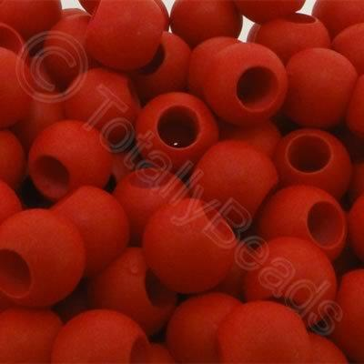 Acrylic Beads 10x8mm - Red