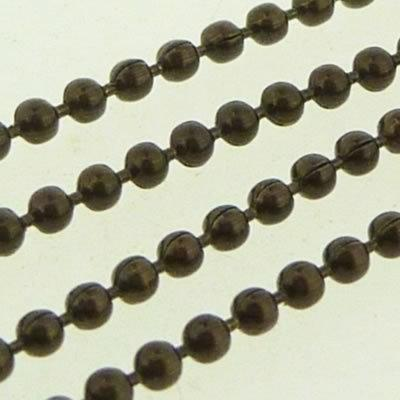 Ball Chain 1.5mm - Metallic Dark Bronze - 1m