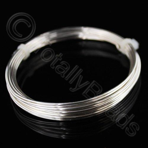 Beading Wire - Silver Plated Copper 0.8mm - 6 Metres