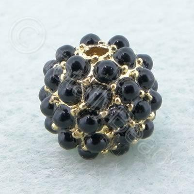 BeadyBall Bead - Gold and Black