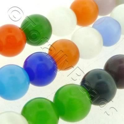Cats Eye Bead - Round 8mm - Mixed
