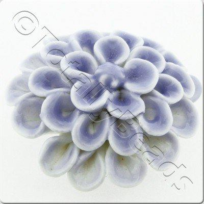 Ceramic Pendant - Flower - Pale Blue