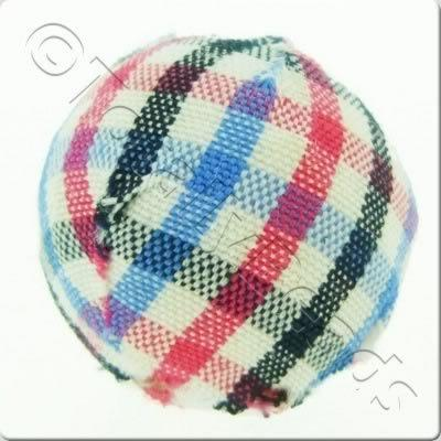 Chequered Cloth Bead 20mm - C12