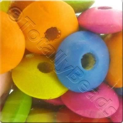 Childrens Wooden Bead - Rondelle
