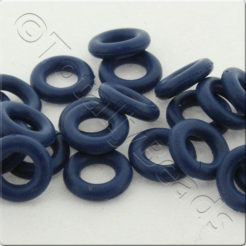 Rubber O Ring 8mm - Blue 25pcs
