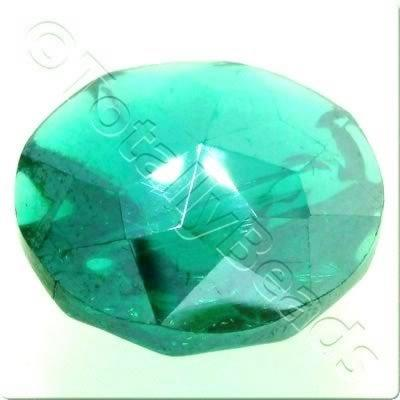 Crystal Button 20mm - Teal