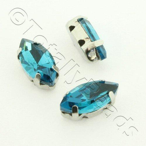 Sew on Crystal Rivoli 5x10mm Oval - Teal