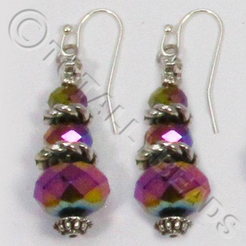 Christmas Tree Earrings - Rainbow