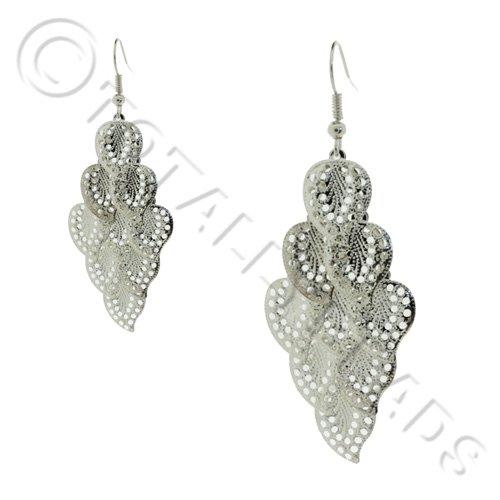 Cascade Earring Kit - Silver Filigree leaf