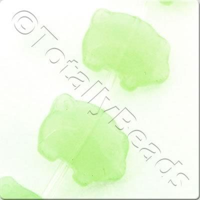 Glass Pig - 14mm - Opaque Pale Green - 19pcs