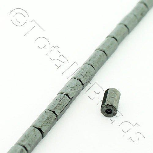 Hematite - 8 Facet Tube 3x5mm