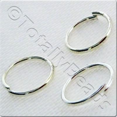 Jump Rings 8mm - Silver Plated