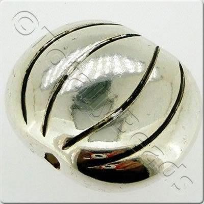 Acrylic Antique Silver Bead - Flat Disc 37mm
