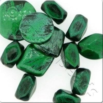 Acrylic Painted Beads 50g - Green