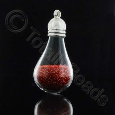 Mystical Droplet Pendant - Red