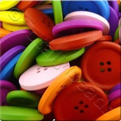 Childrens Wooden Buttons - 30mm
