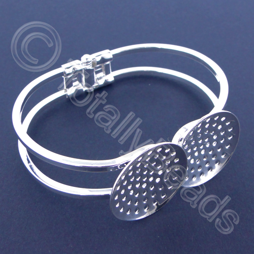 Beadable Bracelet 60mm  - Silver Plated