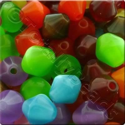 Resin Bead - Double Cone 8mm - Mixed