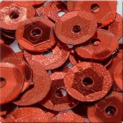 Sequins - 6mm Cup - Metallic Red