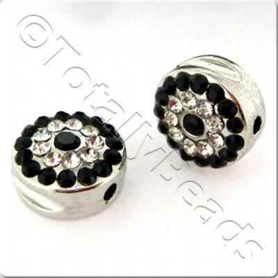 Shamballa Rhodium Coin - Jet Black