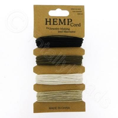 Hemp Cord - 5m Mixed Colour