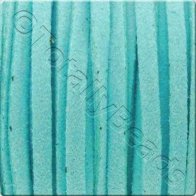 Suede Cord Turquoise - 3mm - 5m Spool