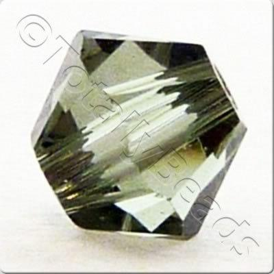 Swarovski 4mm Xilion Bicone - Black Diamond 24pk