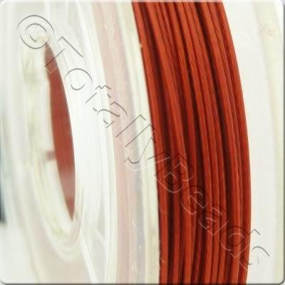 Tigertail Wire 0.45mm - Metallic Red - 10m