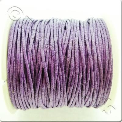 Wax Cotton Cord 1mm - Lavender