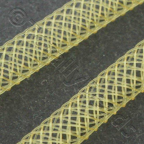 Nylon Mesh Tubing 4mm Gold - 4m pack