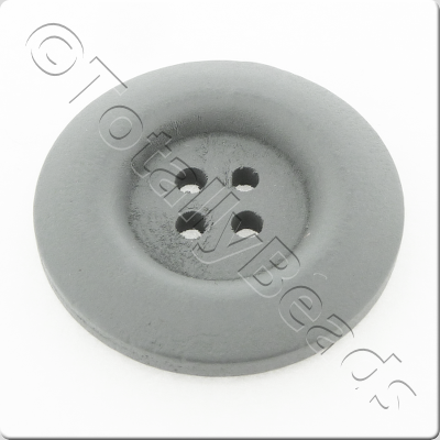 Wooden Button 30mm - Grey