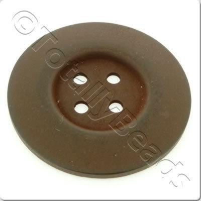 Wooden Button 60mm - Dark Brown