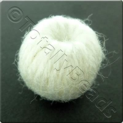 Wool Bead 22mm - White
