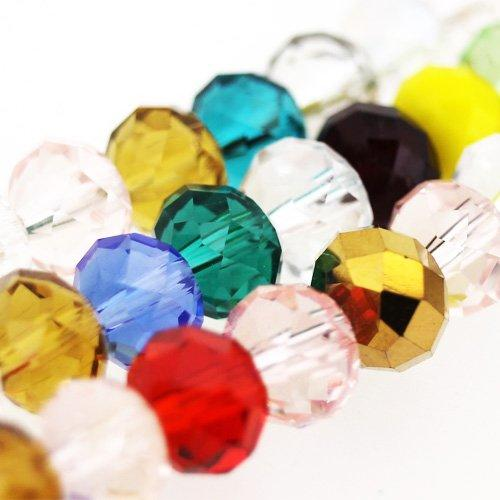 Crystal Rondelle 8x10mm - Mixed String